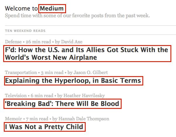Links in Medium email