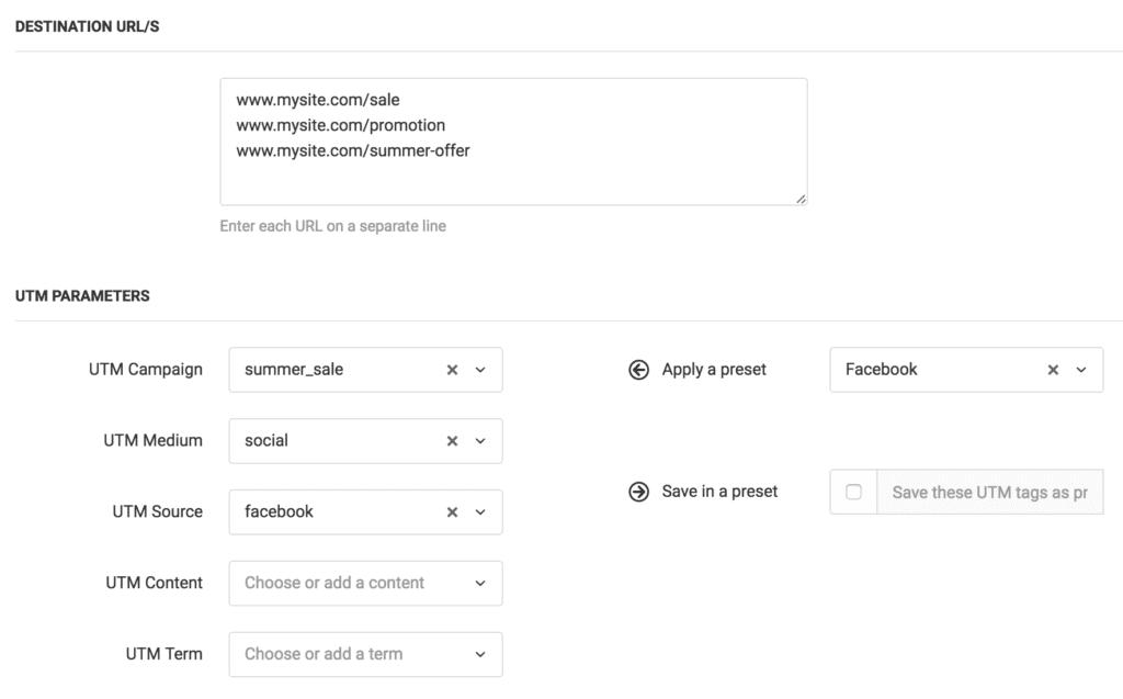 Terminus UTM URL Builder