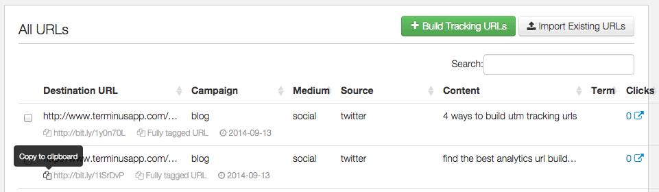 Terminus URLs List