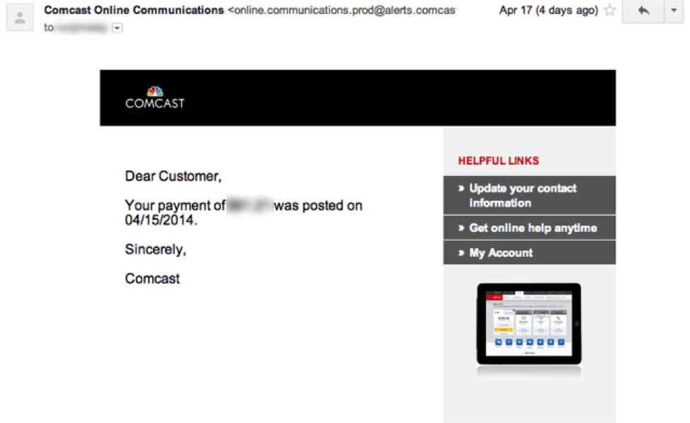 email-marketing-comcast-example