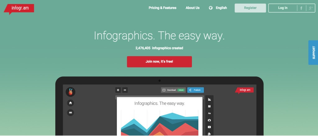 Infogram: Make infographics to wow your clients