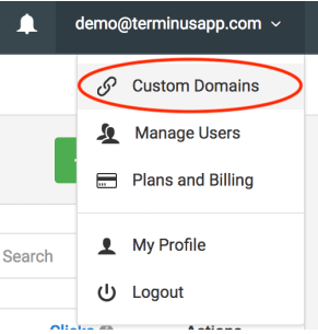 image of domain selector
